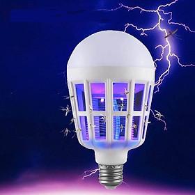 Đèn LED bắt muỗi, bóng đèn  đuổi muỗi, chống côn trùng, đèn ngủ chiếu sáng tiết kiệm điện, kèm lưới diệt muỗi bảo vệ giấc ngủ trẻ em trong gia đình, công suất 9-15-20W HL144