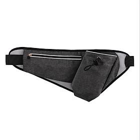 Túi đai đeo bụng hông chạy bộ phản quang YIPINU có ngăn đựng bình nước YS20