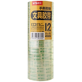 Morning light (M & G) AJD97320 office stationery small tape 12mm30y27.42 m 12 package