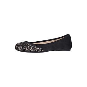 Giày Búp Bê Đế Bệt ASHLEY BLACK/DISCO GLITTER GOLD Butterfly Twists BT21-032-759 - Đen