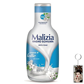 Sữa tắm dạng kem sữa Malizia Bath Foam 1000ml + Móc khóa