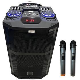 Loa kéo di động karaoke ZANSONG K5 F2 ( Phiên bản 2) có 3 loa Bass, Trung, Tress kèm 2 micro - Hàng chính hãng