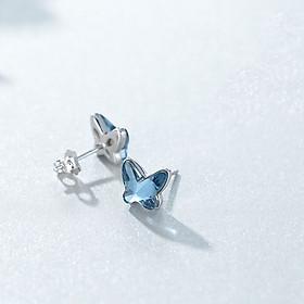 Khuyên Tai Nữ Bạc Bướm Xanh Ngọc B2565 - Bảo Ngọc Jewelry