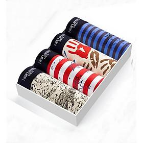 Hộp 4 quần lót nam Boxer Nanjiren ( quần sịp đùi ) hàng nhập câp cấp QL2
