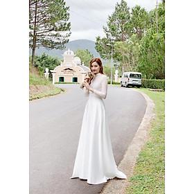 Đầm maxi dạ hội trắng sang trọng