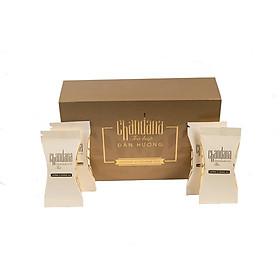 Hộp 105gram Trà an thần Chandana từ 100% Búp Đàn hương trắng Ấn Độ (Santalum Album L) giúp an thần, giảm stress, hạ huyết áp và tốt cho người bị tiểu đường