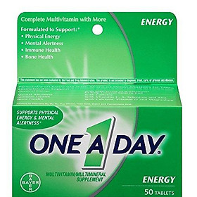 One-A-Day All Day Energy Multivitamin / Multimineral Supplement | 50 Tablets