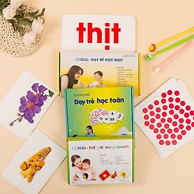 Com Bo Bộ Thẻ Học Thông Minh Bộ 59  Thẻ Học Toán + Bộ 100 Thẻ Học Tiếng Việt + Bộ 100 Thẻ Thế Giới Xung Quanh