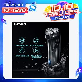 Máy Cạo Râu Điện Xiaomi Enchen BlackStone 3 3D Với 3 Lưỡi Cạo Và Kết Nối USB