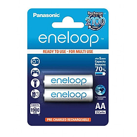 Pin sạc eneloop Panasonic 2000mAh - BK-3MCCE/2B (Hàng chính hãng)