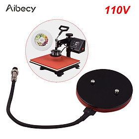 Aibecy 12.5cm/4.9in Small Heat Press Plate Pad Silicone Heating Pad Mat for Heat Press Machine