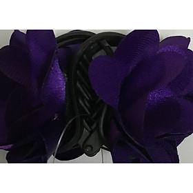 kẹp 5răng hoa hồng tím xanh
