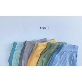 Set 10 quần chục, quần đùi vải thun lạnh không bai không xù cho bé trai bé gái