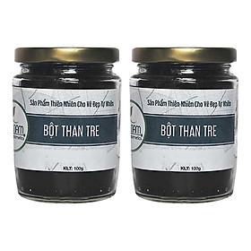 Combo 2 Hũ Bột Than Tre Trắng Răng Bao Nam Organic Cosmetics (100g/Hũ)