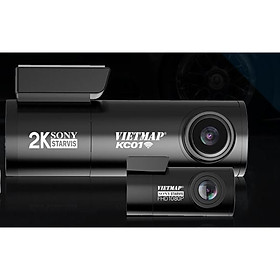Camera Hành Trình Vietmap KC01- Hàng Chính Hãng- TẶNG KÈM: Thẻ nhớ 32Gb  + Giá đỡ nam châm điện thoại cao cấp