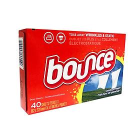 Giấy thơm Bounce Mỹ dùng cho máy giặt sấy (hộp 40 tờ)