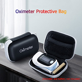 Oximeter Storage Case Fingertip Pulse Oximeter Travel Case Shockproof Waterproof EVA Storage Box Blood Saturation