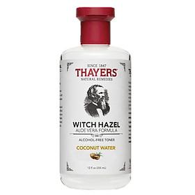 Nước Hoa Hồng Không Cồn Thayers Witch Hazel Aloe Vera Formula Alcohol-Free Toner - Coconut Water 355ml (Dành cho da hỗn hợp đến khô, nhạy cảm)
