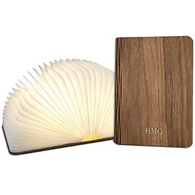 Đèn LED trang trí hình cuốn sách gấp mở độc đáo - Bìa gỗ, cao 22 cm
