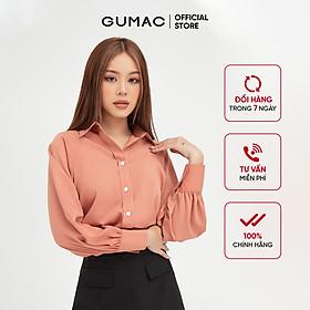 Áo sơ mi nữ tay raglan GUMAC đồ công sở thanh lịch AB413