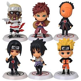 Bộ 06 Mô Hình Nhân Vật Naruto - Mẫu 01