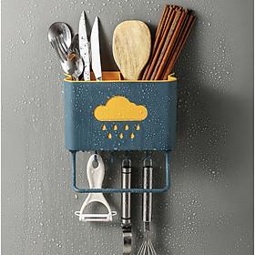 Kệ nhà bếp đa năng - Kệ đựng dao đũa  dán tường tiện lợi