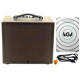 Ampli AGA SC-60-III Cho Đàn Guitar & Nhạc cụ mộc Acoustic (công suất 60W) - Bộ khuyếch đại âm thanh Amplifier Amply SC60 - Kèm Móng Gảy DreamMaker