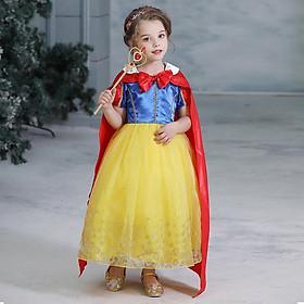 Đầm công chúa Bạch Tuyết hóa trang cosplay bé gái
