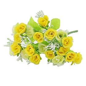 Hình đại diện sản phẩm 1 Bouquet 21 Heads Artifical Rose Flower Wedding Party Home Living Room Decor