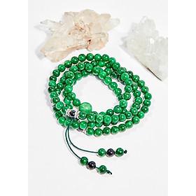 Vòng chuỗi hạt đeo tay 108 viên đá cẩm thạch 6mm mệnh hỏa , mộc - Ngọc Quý Gemstones