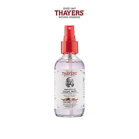 Nước hoa hồng không cồn Thayers cao cấp giúp ngừa lão hóa da - Hương dừa và hoa hồng 118ml