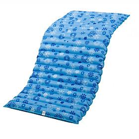 Đệm nước mát mùa hè cao cấp họa tiết ngẫu nhiên - Tặng kèm 01 gối mây đan tổng hợp thoáng mát