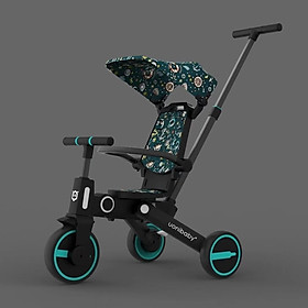 Xe đẩy cho bé UoniBaby, kết hợp xe đạp 3 bánh - Gấp gọn - Chính hãng, nhập khẩu nguyên chiếc
