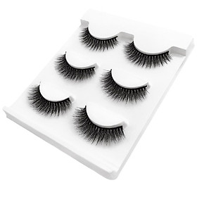 SHIDISHANGPIN 3 Pairs Mink Eyelashes 3D False Lashes Thick Crisscross Makeup Eyelash Extension Natural Volume Soft Fake Eye Lashes