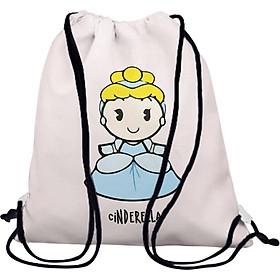 Túi Rút Unisex In Hình Công Chúa Cinderella BDCT726
