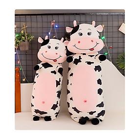 Gấu Bông Gối Ôm Bò Sữa Béo Cute Bông Gòn Cao Cấp