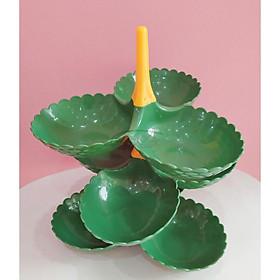 Khay đựng mứt Tết 3 tầng - Khay bánh kẹo - Khay đĩa 3 ô nhựa nhiều màu