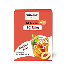 Hộp trà đào hòa tan GUNAM (16 gói x 15g)
