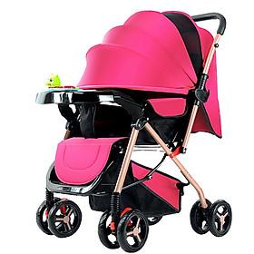Xe đẩy cho bé HUAYING ,Xe đẩy em bé 2 chiều 3 tư thế màu đỏ,màu xanh,màu kaki,màu hồng