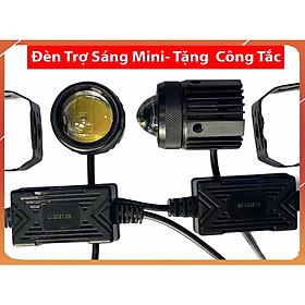 Đèn Trợ Sáng Mini Cost Vàng - Pha Trắng - hàng loại 1 - tặng công tắc - cục nguồn bằng nhựa