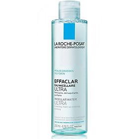 Nước tẩy trang làm sạch sâu dành cho da dầu nhạy cảm - La Roche-Posay Micellar Water Ultra Oily Skin 200ml
