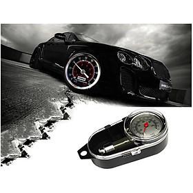 Đồng hồ đo áp suất lốp xe ô tô, xe máy - Máy đo áp suất lốp xe hơi có độ chính xác cao+ Tặng kèm khăn rửa xe đinh san cao cấp
