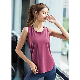 Áo tanktop nữ tập gym Louro LA70, kiểu áo tanktop nữ tập thể thao, yoga, zumba, chất liệu thoáng mát, co giãn 4 chiều