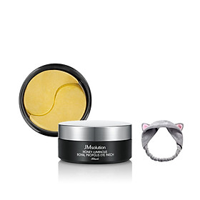 Mặt Nạ Dưỡng Da Vùng Mắt Chiết Xuất Mật Ong JMsolution Honey Luminious Royal Propolis Eye Patch 90g + Tặng Kèm 1 Băng Đô Tai Mèo Xinh Xắn ( Màu Ngẫu Nhiên)
