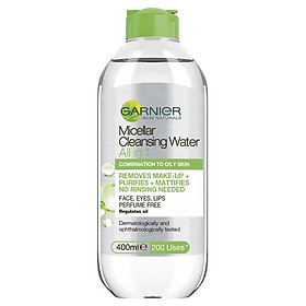 Garnier Micellar All In One Oily to Combination Cleansing Water 400ml
