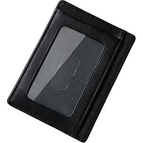 Ví đựng thẻ da bò thật cao cấp siêu mỏng Rainbow CW001 BLK nhỏ gọn , thanh lịch , siêu bền - Card Smart Wallet tích hợp công nghệ chống trộm RFID Blocking thông minh bảo mật 100% thông tin.