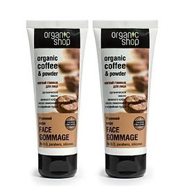 Combo 2 Kem tẩy tế bào chết mặt Organic Shop Organic Coffee & Powder (75ml*2)