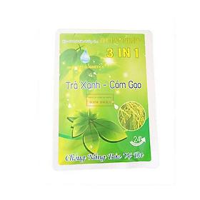 Kem và bột tắm trắng toàn thân Nhật Việt Trà Xanh - Cám Gạo (120g)