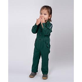 Jumpsuit Trẻ em Unisex_  Yvette LIBBY N'guyen Paris_SPIRIT ST. LOUIS_Màu Xanh (Forest Boime), Vải lanh cao cấp viền cotton lụa Ý