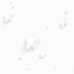 Giấy dán tường Hàn Quốc nền trắng hình cánh bướm 3d